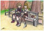 Shulk y Fiora -Xenoblade Chronicles-