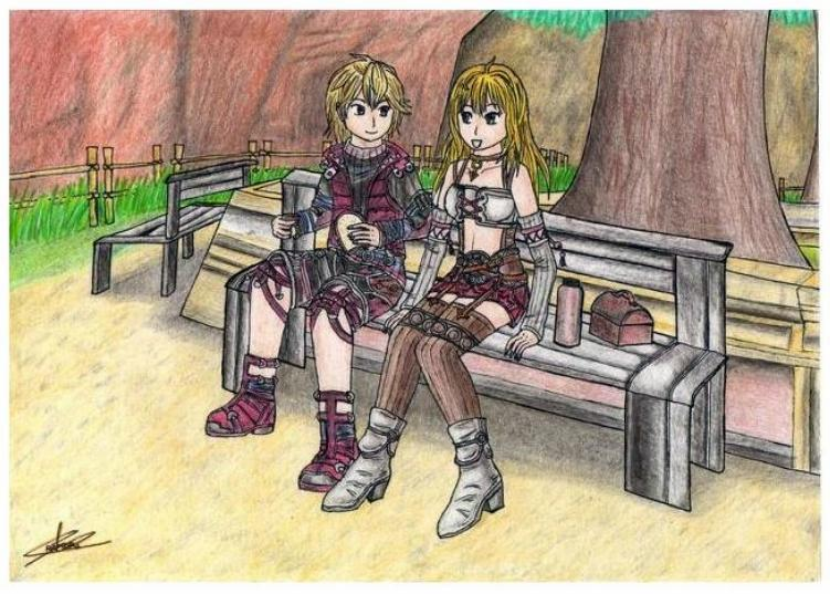 Shulk y Fiora -Xenoblade Chronicles- by raptorthekiller