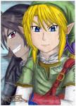 Link And Dark Link -The legend of Zelda- by raptorthekiller