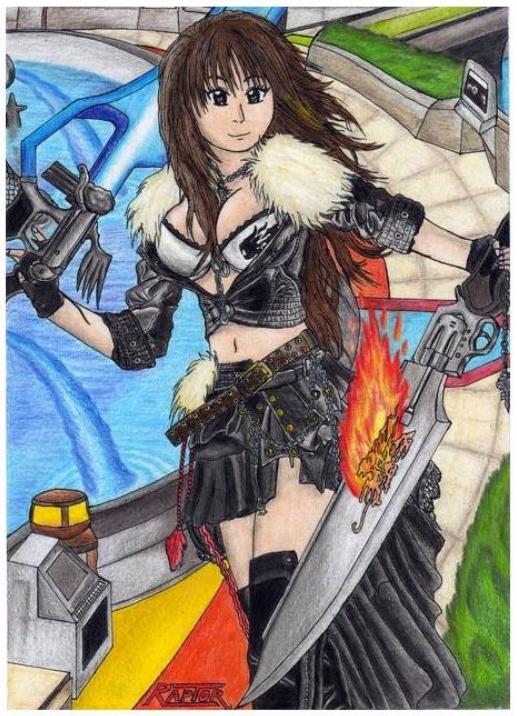 Squall Leonhart girl -Final fantasy VIII- by raptorthekiller
