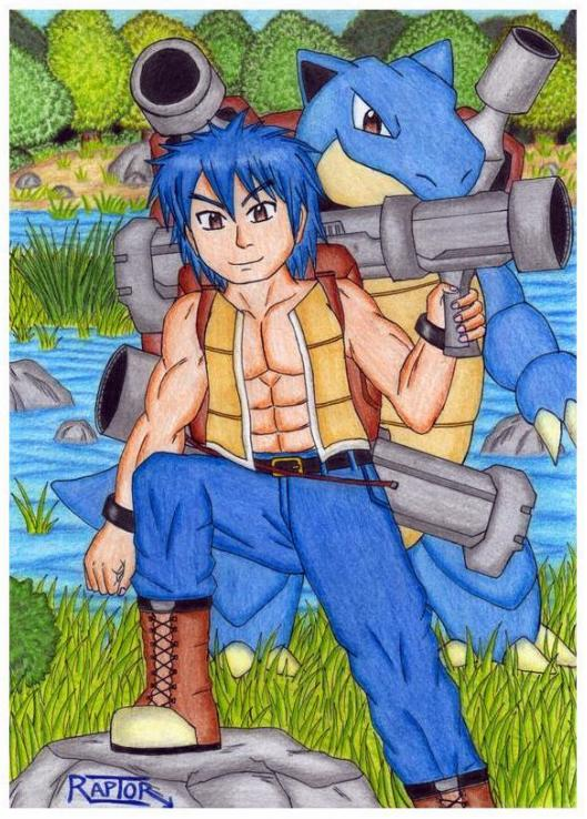 Blas and Blastoise -Pokemon Gijinka- by raptorthekiller