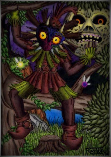 Skull kid -Zelda Majora's mask- by raptorthekiller