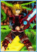 Shulk and Monado - Xenoblade Chronicles by raptorthekiller
