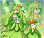 Pokemon Gijinka - Lilligant and Florina