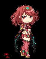 Pyra Chibi - Xenoblade Chronicles 2 by raptorthekiller