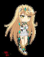 Mythra Chibi - Xenoblade chronicles 2 by raptorthekiller