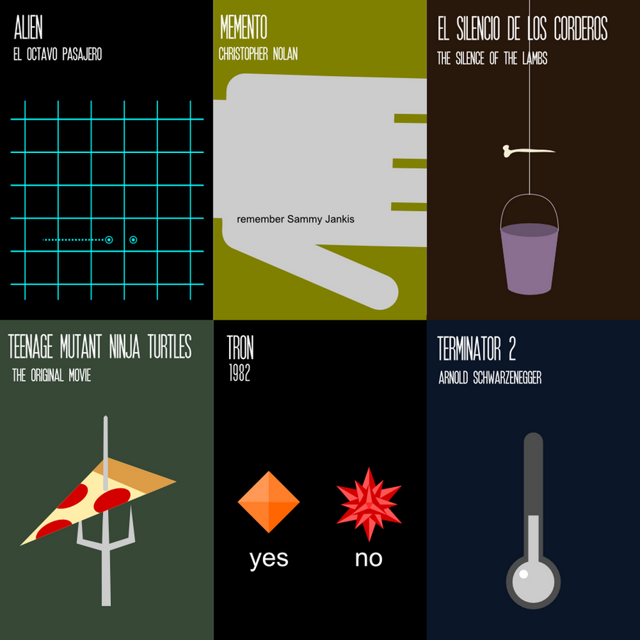 6 Minimal Movie Posters by rbl3d