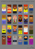 Streets of Rage Minimalist Characters by rbl3d
