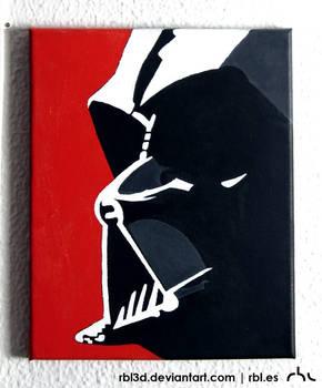 Darth Vader popart painting