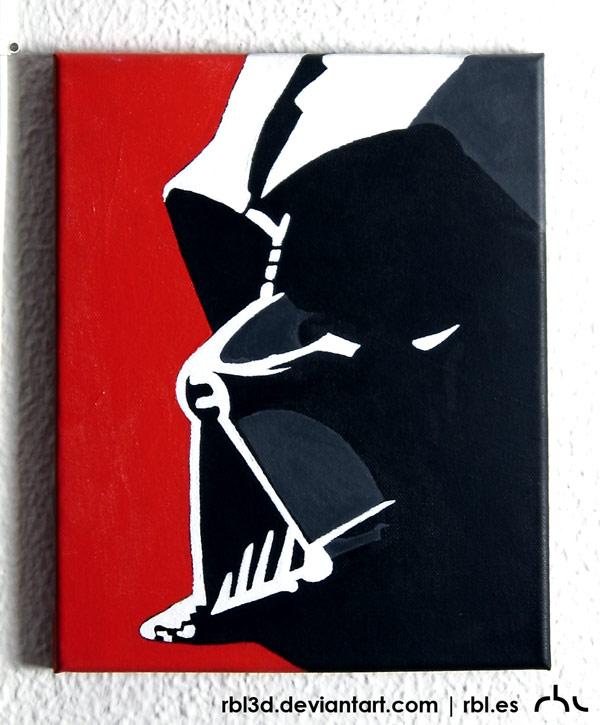 Darth Vader popart painting by rbl3d