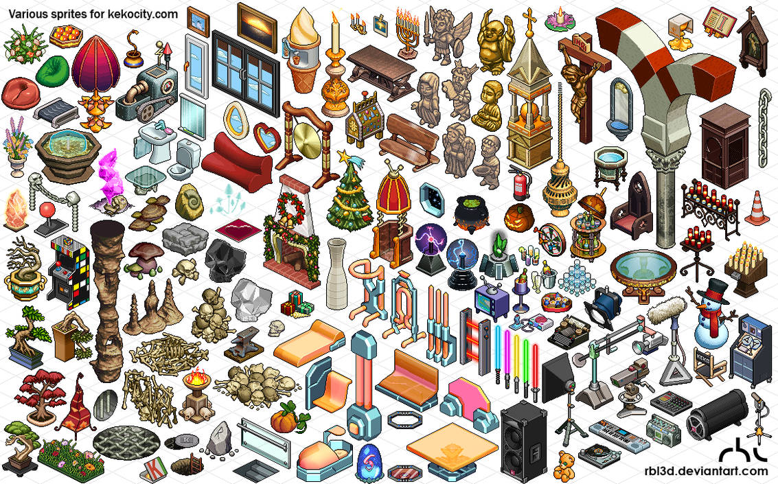 Lots of isometric objetcs for Kekocity.com