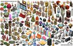 Lots of isometric objetcs for Kekocity.com