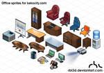Office isometric objetcs for Kekocity.com