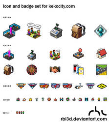 Pixel Icons for Kekocity
