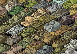 Isometric Tanks Collage