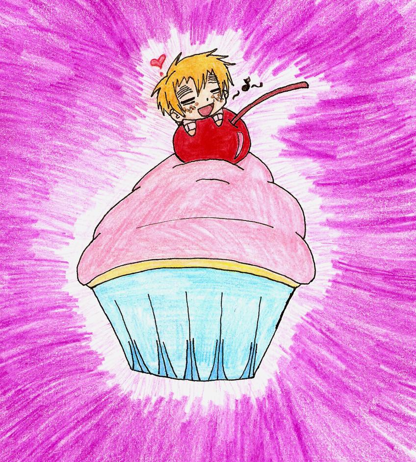 Giant cupcake, yay~ by pikamuse
