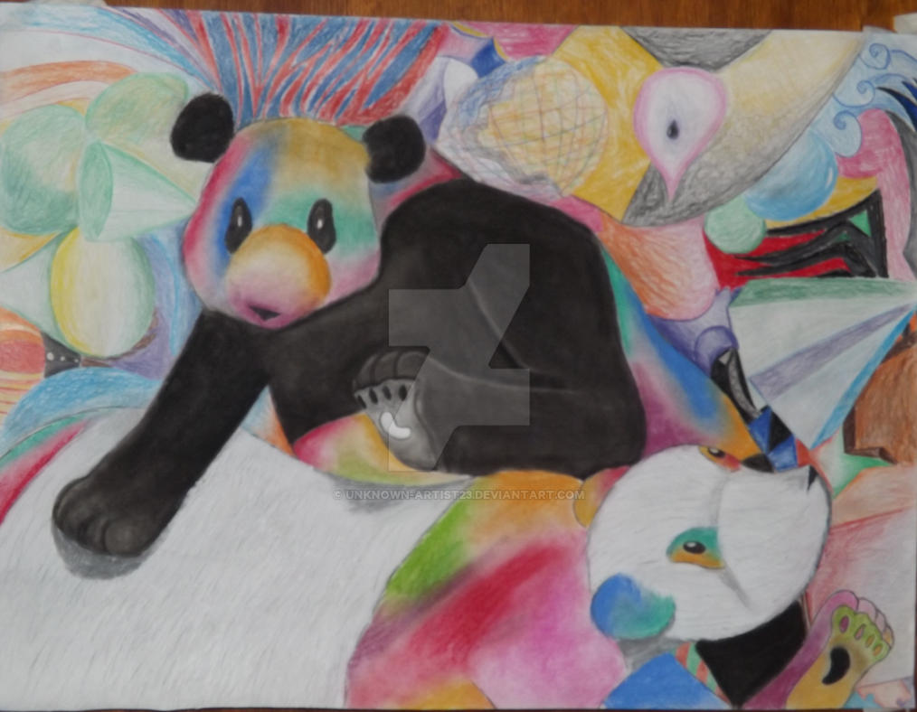 Zen Pandas by unknown-artist23