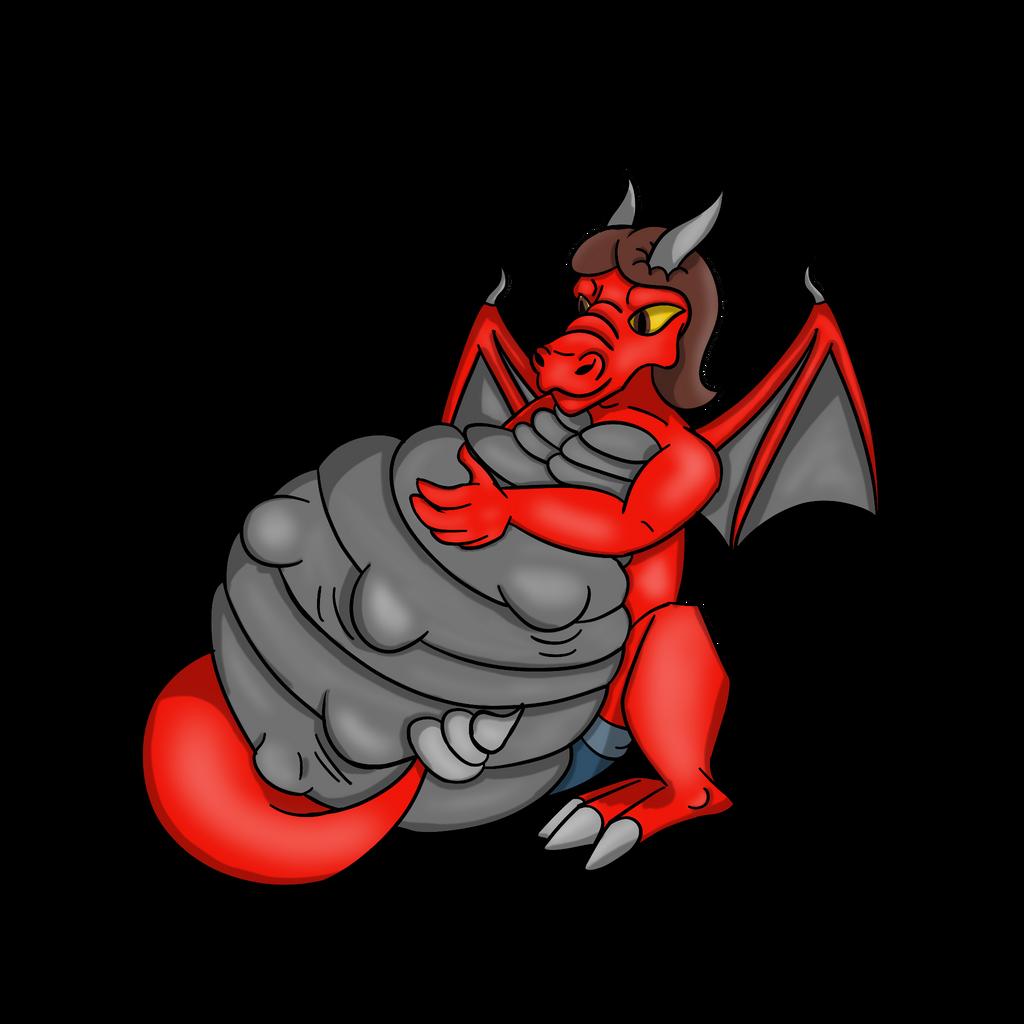 Pregnant Dingofan (dragon form) by Spazknot on DeviantArt