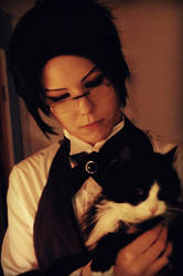 Claude Faustus loves cats