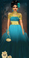 Blue and Gold Couture