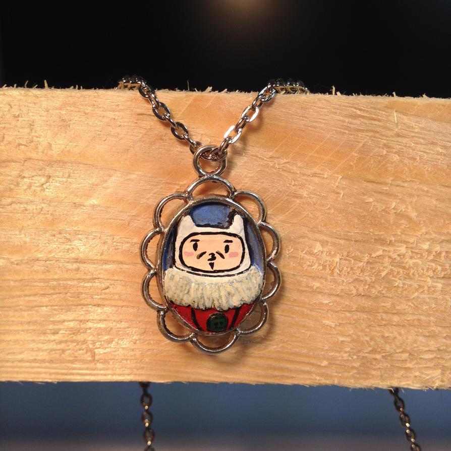 Finn the Human Epoxy Necklace by dolgopolovki