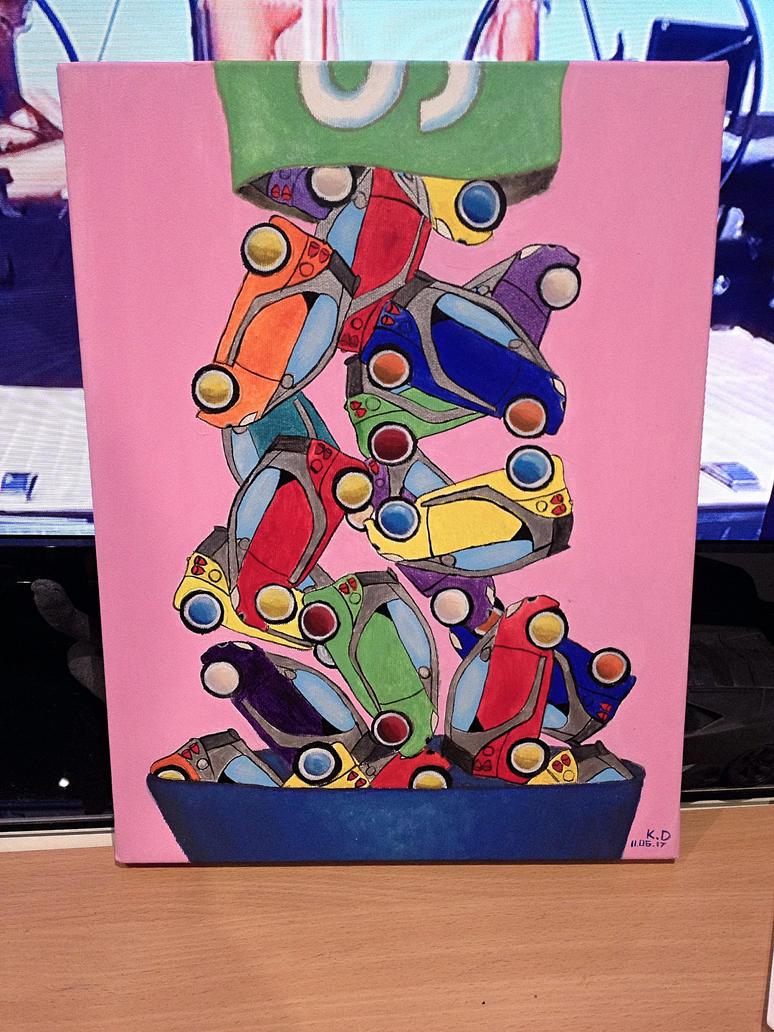 Skittles Smart Waterfall Painting by dolgopolovki