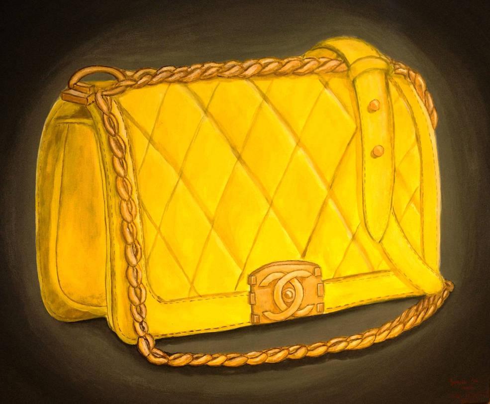 abcc29c19bab Yellow Chanel Boy Bag by dolgopolovki on DeviantArt