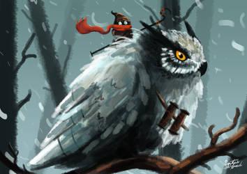 Owl Rider by SkoglundP
