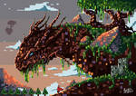 Wood Dragon (Pixel) by SkoglundP
