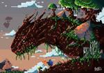 Wood Dragon Pixel by SkoglundP