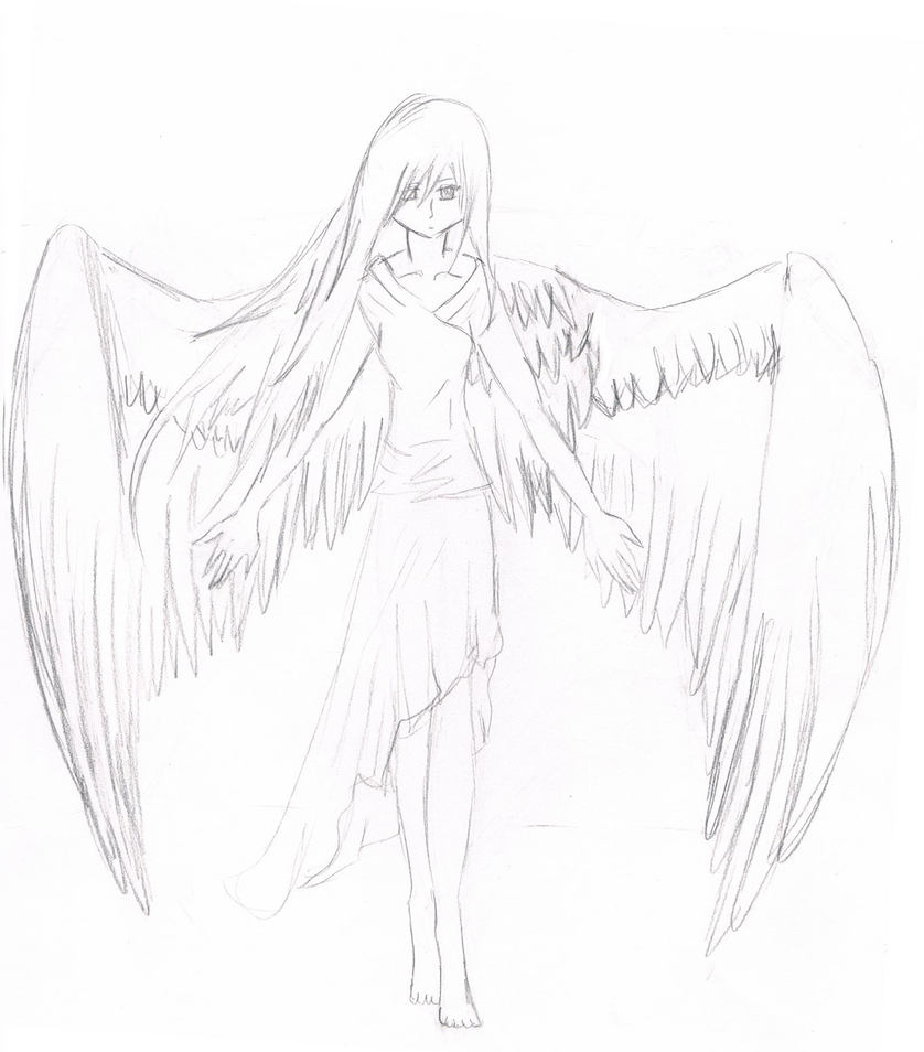 Angel sketch by Yanxchan on DeviantArt