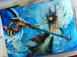 League of Legends: Nami by Kytru