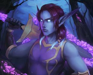 Void elf (Commission) by Kytru