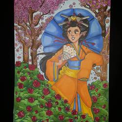 Walk in the Garden by CrayolaSquirrel
