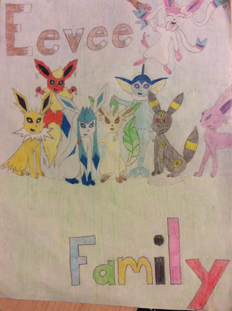 Eevee Family: Cover by Glacie-The-Glaceon