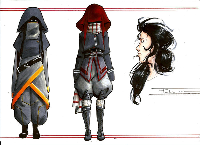 Mell Clothes Reference by Eyrann
