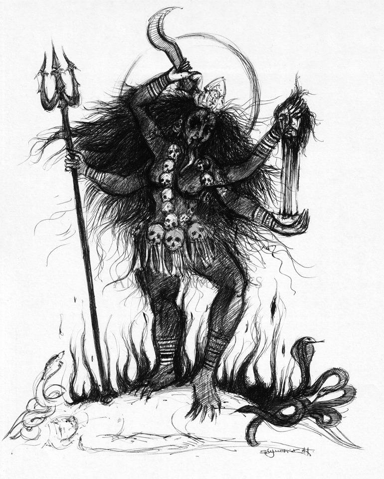 Kali (sketch) by AnatiummiArts on DeviantArt