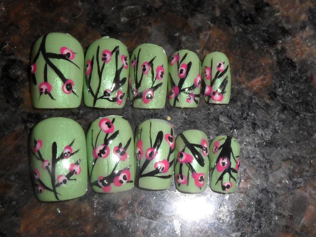 Arizona Tea Can Cherry Blossom Nail Art By Thehungrysquid On Deviantart