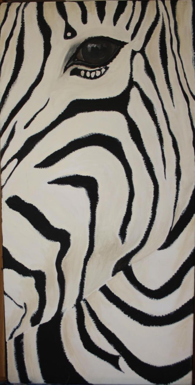 Zebra Acrylics by meeshel99