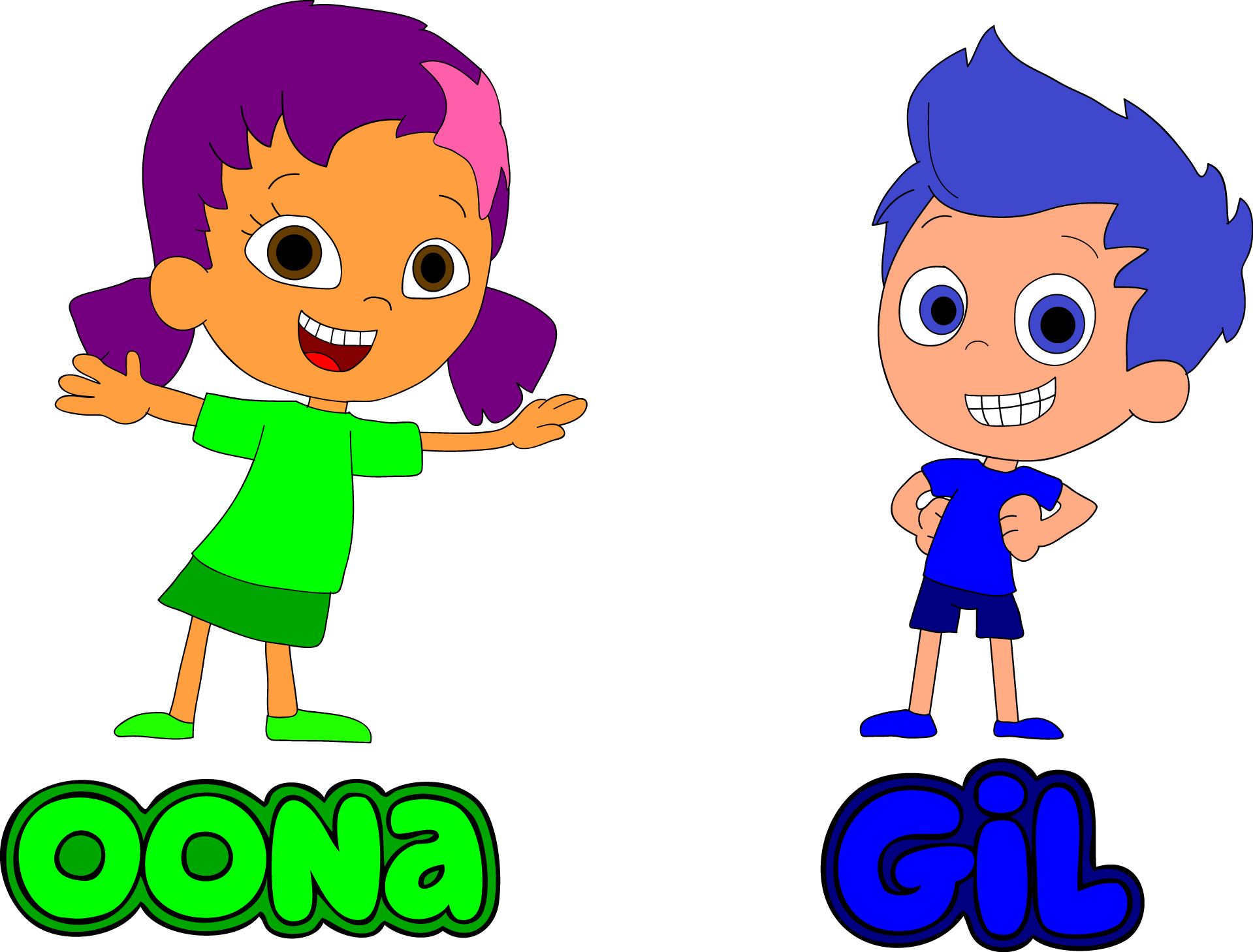 Oona and gil of bubble guppies by blueelephant7 on deviantart - Bubulles guppies ...