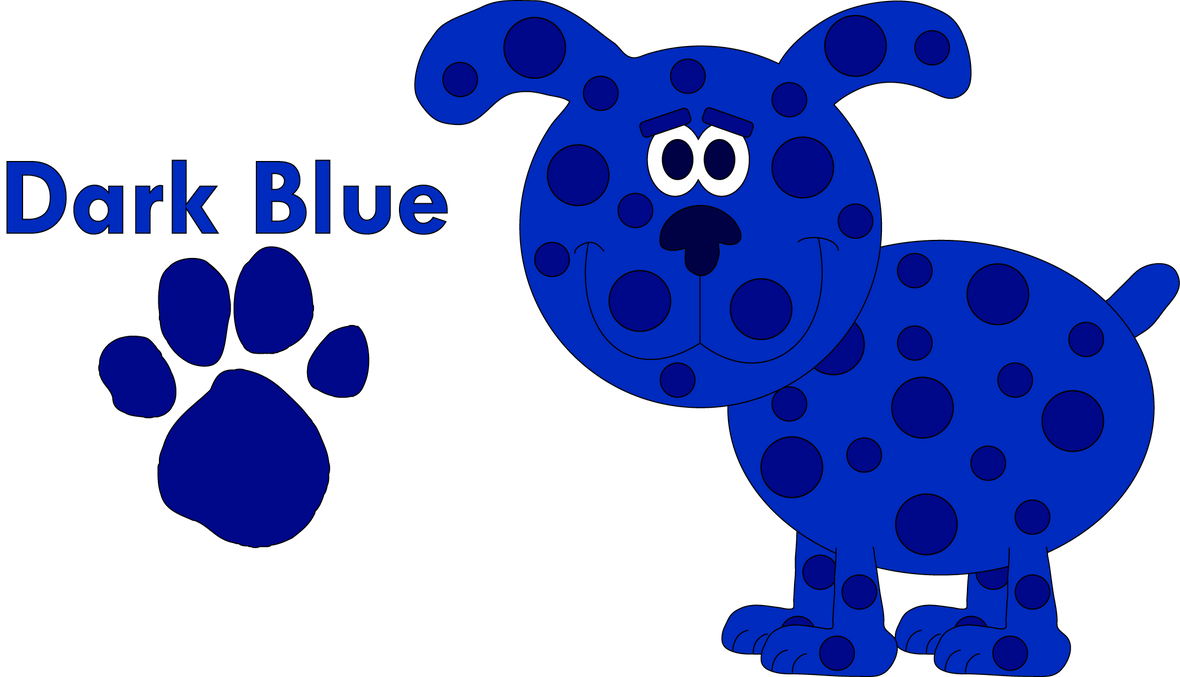 dark blue blues clues my blues clues dog oc by blueelephant7 - Blue Clues