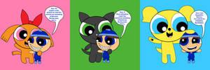 Powerpups meet Mr. Blue