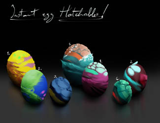 Instant Eggs [Hatchable Adopts][1 and 2 are Open] by IroPagis