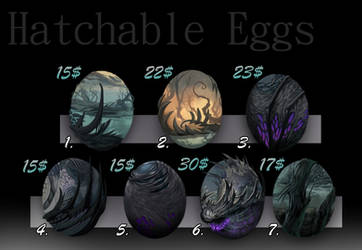 Eggs! [Hatchable Adopts][Closed][Points or Paypal] by IroPagis