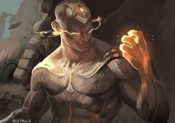 God fist LEE SIN [League Fanart] [Painting study] by IroPagis
