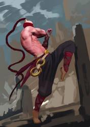 Painting sketch - Lee Sin - League Fanart by IroPagis