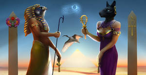 Horus and Bastet