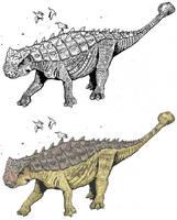 Pinacosaurus grangeri by tuomaskoivurinne