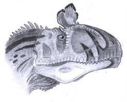 Cryolophosaurus ellioti by tuomaskoivurinne