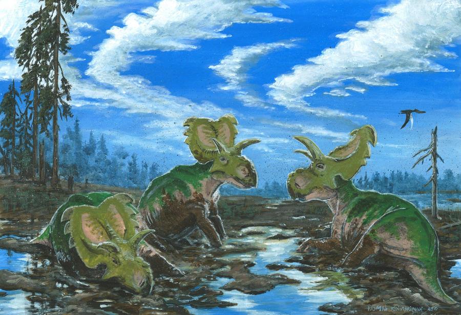 Horns03: Medusaceratops by tuomaskoivurinne